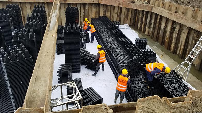 松江上海工程技术大学C03标段雨水收集系统案例