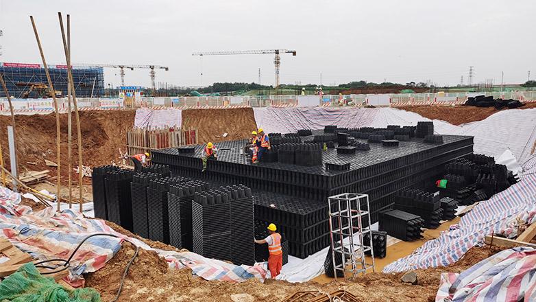 宁句线城际地铁车辆基地雨水收集工程案例
